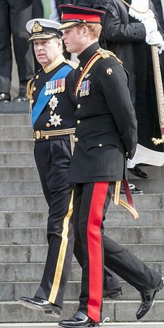 Prince Harry in his military uniform, with Uncle Andrew. Prince Henry, Prince Andrew, Royal Prince, Prince Of Wales, Princess Beatrice, Princess Eugenie, Order Of The Garter, Duke Of York, English Royalty