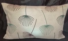 Large Palm Leaf Cushion Envelope style Comes with removable cover Velcro fastening at back of cushion Size 24 inches x 16 inches Envelope, Palm, Cushions, Leaves, Throw Pillows, Embroidery, Sewing, Cover, Style