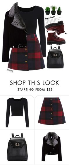 """#Romwe"" by credendovides ❤ liked on Polyvore featuring La Bête and Dr. Martens"