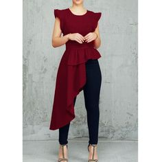 Flutter Sleeve Irregular Flounced Hem Blouse Women's Online Shopping Offering Huge Discounts on Dresses, Lingerie , Jumpsuits , Swimwear, Tops and More. Ruffle Sleeve, Flutter Sleeve, Summer Blouses, Fashion Outfits, Womens Fashion, Latest Fashion, Fashion Ideas, Pattern Fashion, Sleeve Styles