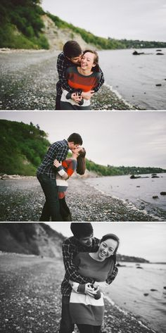 seattle engagement session. discovery park.