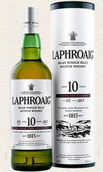 Laphroaig Single Malt Whisky - Cask Strength single malt available from Whisky Please.