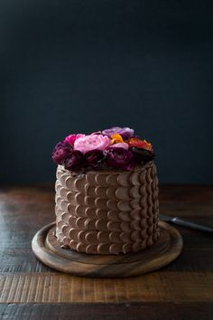 The prettiest chocolate cake ever via The Flourishing Foodie