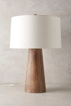 Wood Barrel Table Lamp Wood Barrel Table Lamp by Anthropologie in Beige, Lighting Table Lamp Wood, Wood Lamps, Desk Lamp, Dining Table, Modern Table Lamps, Cool Table Lamps, Wood Lamp Base, Wood Floor Lamp, Dining Rooms