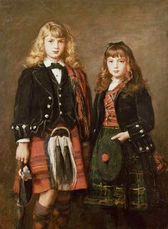 Two Bairns by John Everett Millais