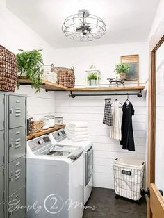 Wait Until You See This Amazing Laundry Room Transformation in 2021   Amazing laundry rooms, Farmhou