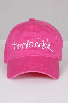 Tennis Chick Baseball Cap available at happyfirst.com #HappyFirst