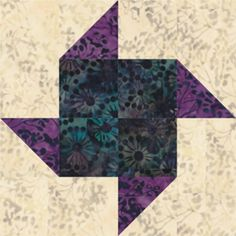 Try One of My Free Pinwheel Quilt Block Patterns: Paper Pinwheels Quilt Block Pattern