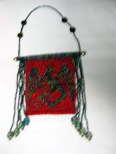 Beaded Dragon Wall Hanging tapestry by KathyDavison on Etsy, $35.00