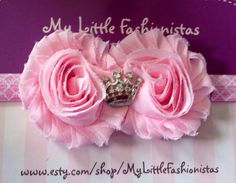 Pink+Princess+shabby+headband++by+MyLittleFashionistas+on+Etsy,+$6.95