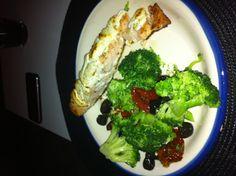 Zalm met broccoli salade