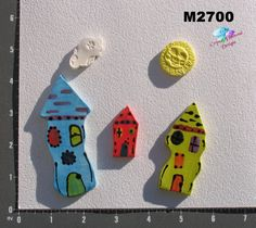 New For SALE!! Houses  Tiles are Kiln Fired Handmade and by CrystalDMosaicDesign, $11.99