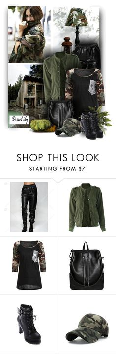 """""""Camouflage with Dresslily"""" by christiana40 ❤ liked on Polyvore featuring modern"""