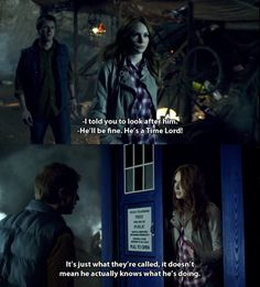 """It doesn't actually mean he knows what he's doing!"" #DoctorWho"