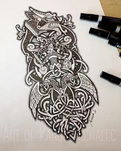 Berserker Tattoo, Fenrir Tattoo, Rune Tattoo, Diy Tattoo, Phoenix Tattoo Design, Viking Tattoo Design, Viking Tattoos For Men, Tattoos For Guys, Viking Tattoo Sleeve