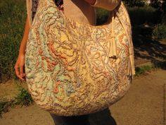 """Купить Валяная сумка """"Хамелеон"""" - яркая сумка, летняя сумка, авторская ручная…"""