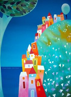 Houses on the hill - fine art print  Tiziana Rinaldi  wow!