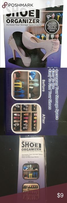 Too many shoes? Must have stackable shoe organizer Must have stackable shoe organizer (6 pcs) to increase storage space easily! Easy to use and find your shoes.  NEW, never used from Tekno Products Inc. tekno Other