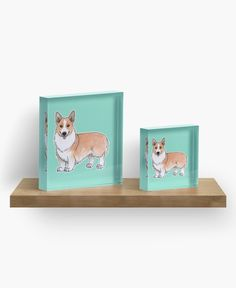"""Welsh Corgi dog"" Acrylic Block by @savousepate on @redbubble #welshcorgi #dog #doglover #cute #drawing #watercolor #painting #acrylicblock #artprint #homedecor #kidsroomdecor"