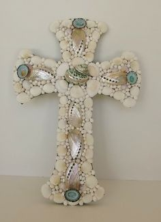 Seashell Cross Religious Abalone Graduation by MosaicSeas on Etsy, $35.00