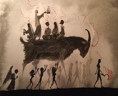 Strange Gods- the art of Valin Mattheis Necronomicon Lovecraft, Tarot, Dark Art Drawings, Occult Art, Danse Macabre, Human Art, Dark Fantasy Art, Horror Art, Cool Art