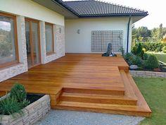 Drewniane Patio W Ogrodzie – Patio Furniture Small Backyard Patio, Backyard Patio Designs, Backyard Landscaping, Deck Patio, Wood Deck Designs, Small Deck Designs, Pergola Design, House Deck, Backyard Lighting