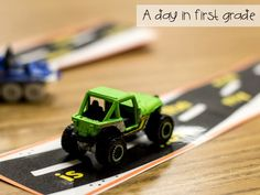 """Sight Word """"roads"""" Students move the car along the road as they read each sight word."""