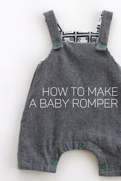 how to make a lined modern baby romper – kojodesigns