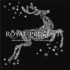 Machine Embroidery Design - Christmas deer, $3.25