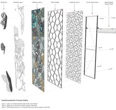 15 Must-See Buildings With Unique Perforated Architectural Façades (Skins)_ 14 Winter Garden Facade Architecture Student, Architecture Drawings, Facade Architecture, Biophilic Architecture, Building Skin, Building Facade, Facade Design, Exterior Design, Metal Facade