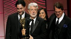 "George Lucas and David Tennant win their first Emmys for ""Star Wars The Clone Wars."""