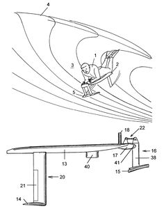 Patent US7144285 - Hydrofoil surfing board - Google Patents