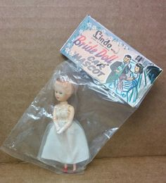 THIS LISTING INCLUDES:  · One RARE vintage Bride Bag Doll · Made in Hong Kong, 1950s/1960s · She measures a tiny 3 inches or so · Doll is unopened in her original packaging with original card. Package is in very good condition. See pics for more detail. · A great addition to your vintage mini doll collection! Items sold as is. No returns. Please see pics/read descriptions/ask questions before buying. We combine shipping. See other sale items for more collectible vintage mini and tiny fashion…