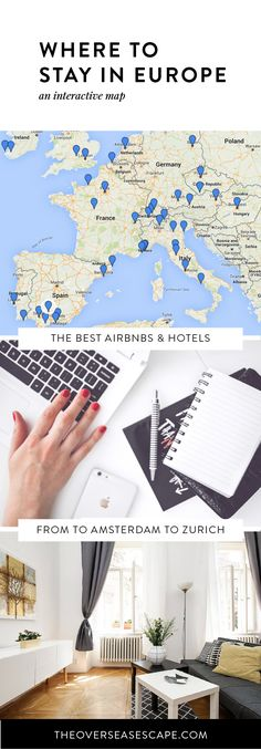 The best Airbnbs and hotels in Europe PLUS tons of fun Euro-trip ideas for honeymooners, friend groups, backpackers, families & more!