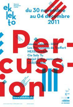 タイポグラフィが綺麗なポスター。 (via typo/graphic posters) | int * design & inspiration