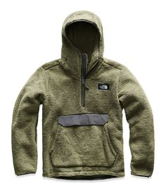 The North Face - Campshire Hooded Pullover Hoodie - Men's - Four Leaf Clover/Asphalt Grey Mens Outdoor Fashion, Mens Outdoor Clothing, Mens Fashion, Ski Fashion, Lolita Fashion, Winter Fashion, Tactical Wear, Tactical Clothing, Tactical Jacket