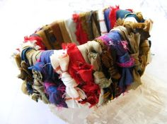 Idea- fabric scraps (with water bottle bangle?)