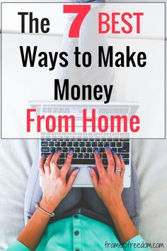 Are you looking for ways to make money from home?  This post has several great ways to make money from home and a list of companies that hire remote workers.  Click to read the full post!
