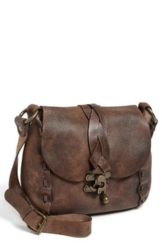 Patricia Nash 'Serrone' Shoulder Bag, Small at Nordstrom.com. A washed, vintage finish enhances the authentic vibe of a slouchy leather shoulder bag accented with antiqued-goldtone hardware.