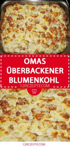 Omas überbackener Blumenkohl Baked Cauliflower, Kitchen Witch, Pampered Chef, Ground Beef, Curry, Veggies, Food And Drink, Low Carb, Healthy Recipes