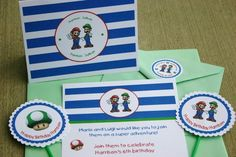 Super Mario themed birthday party