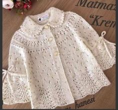 These Braids More 33 Baby Vest Cardigan Dress Knitwear - Knitting Crochet Knitting For Kids, Baby Knitting Patterns, Crochet For Kids, Baby Patterns, Crochet Ideas, Crochet Jacket Pattern, Cardigan Pattern, Crochet Cardigan, Hooded Cardigan