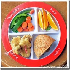 veggies, fruit, protein, grains plate #toddler #food