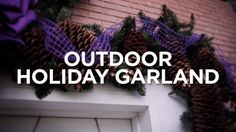 House Diy Videos Projects Curb Appeal 41 Ideas For 2019 Halloween Front Door Decorations, Halloween Front Doors, Silver Christmas Decorations, Christmas Lights, Outdoor Decorations, Farmhouse Christmas Decor, Outdoor Christmas, Rustic Christmas, Homemade Christmas