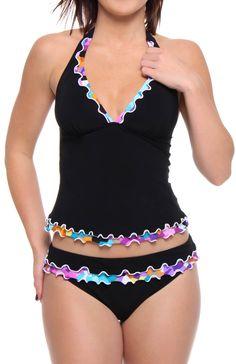 cute ruffle swimsuit. love this