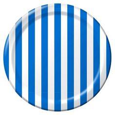 Stripe Dinner Plates Royal Blue 9. Red StripesPaper ...  sc 1 st  Pinterest & blue striped melamine plate | Plates | Pinterest | Blue and Plates