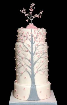 Cherry Tree Wedding Cake