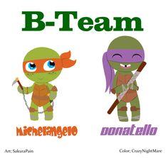 B-Team - TMNT - Michelangelo and Donatello by TheNightmareGirls.deviantart.com on @deviantART