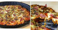 Nadie pensará que la masa de esta pizza es de berenjena. No dejes de probarla porque te va a encantar. La receta es del blog COCINA CON CLAU.