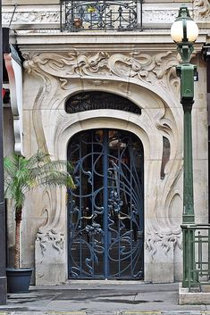 New Art Nouveau Architecture Design Paris France 39 Ideas Architecture Design, Architecture Art Nouveau, Futuristic Architecture, Amazing Architecture, Contemporary Architecture, Architecture Drawings, Contemporary Houses, Pavilion Architecture, Organic Architecture